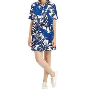 Topshop Leaf print shirt dress